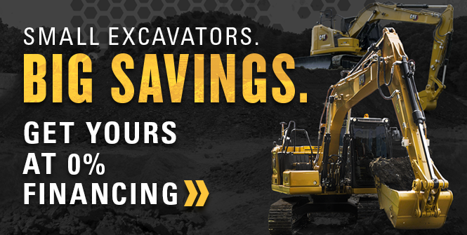 Small Excavator. Big Savings.